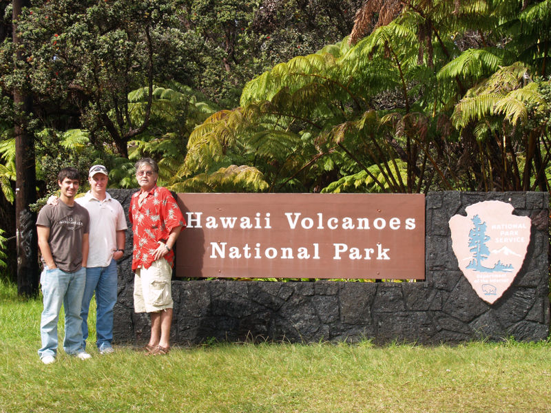 Skinner visit - at the Volcano Parks entrance