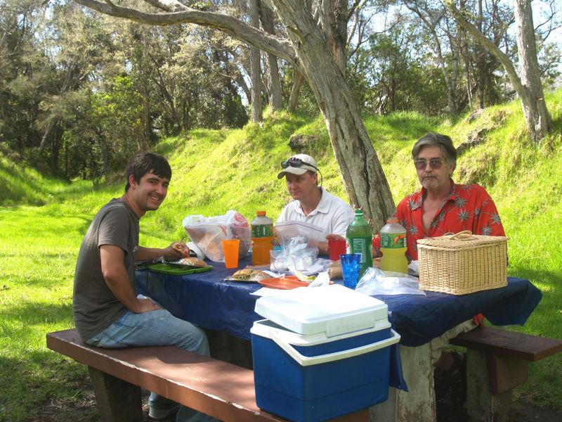Skinner visit - Ryan, Eric, Anthony - picnic at Bird Park