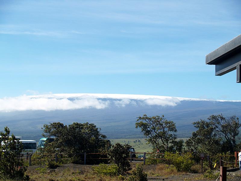 Snow on Mauna Loa 4 - from Jaggar Museum