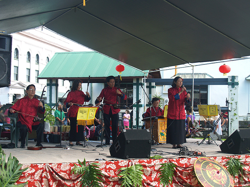 CNY - Chinese musicians on stage