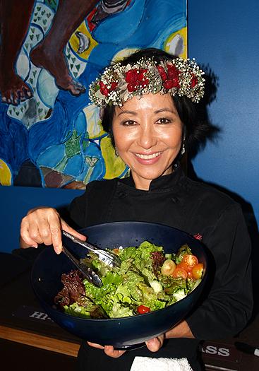 'Olelo pa'a - and salad 2