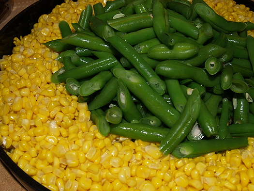 Olelo pa'a - corn and beans