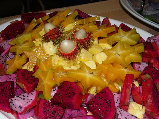 Olelo pa'a - tropical fruit salad