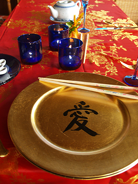 CNY Dinner - Setting the table