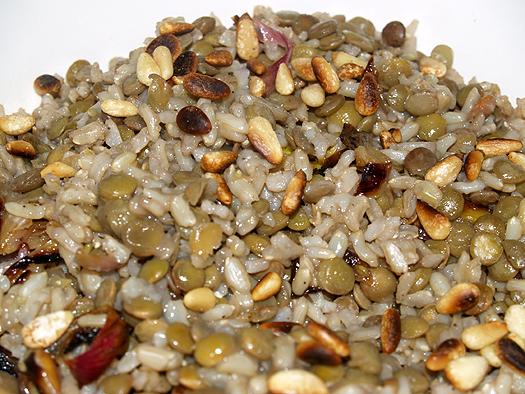 Holit - Jadarah - rice and lentils