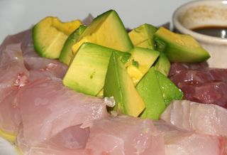 Chef Neil Murphy - 'Ahi and Ono sashimi with avocado sm