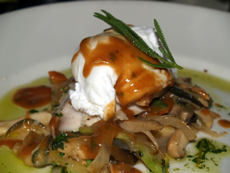 Chef Neil Murphy - Mahi-mahi with poached egg entree 2 sm