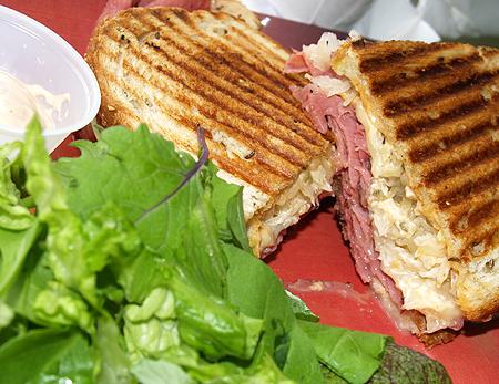 The Courtyard Cafe - Panini Reuben Sandwich