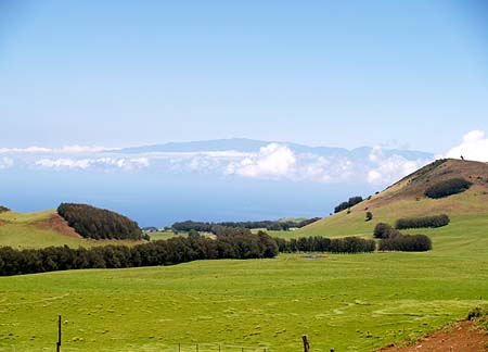 Kahua Ranch - View of Haleakala in Maui from the Kohala Mountains sm
