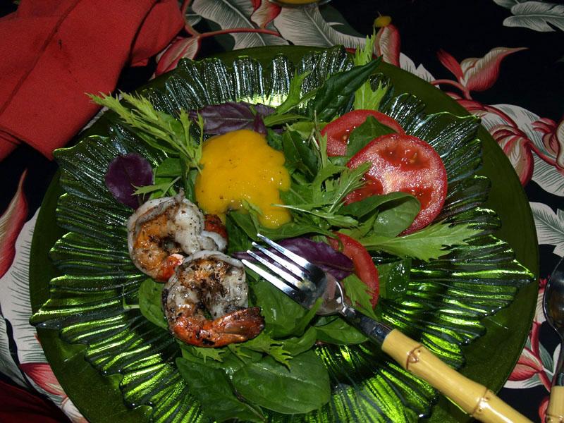 Grilled Shrimp salad - Mango Dressing - 1
