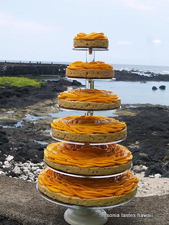 Mango Rose Macnut Shortbread Cake 3 sm