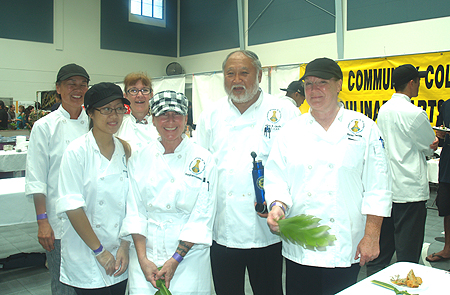 Taste of Hilo - HCC- Director Chef Allan Okuda & Chef Sandy Barr with students