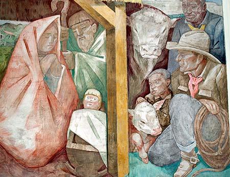 Kahua Ranch - Nativity chreche mural in chapel sm