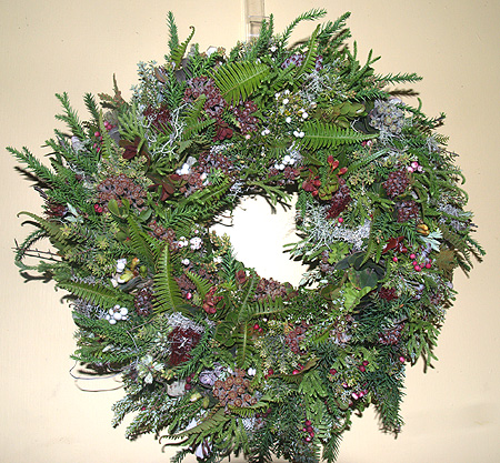Volcano - wreath making - Sonia's hanging on door sm
