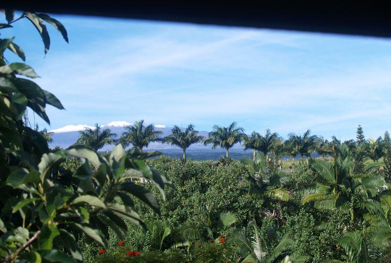 Mauna Kea - Snow - from our back lanai