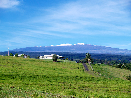 Mauna Kea - Snow - from Akaka Falls & end of Stable Camp Rds sm