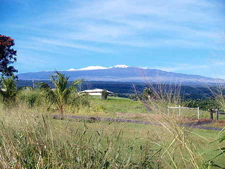 Mauna Kea - Snow - from Akaka Falls & end of Stable Camp Rds 2 sm