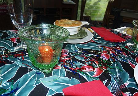 NYE 2010 - Table 4 - chicken pot pie