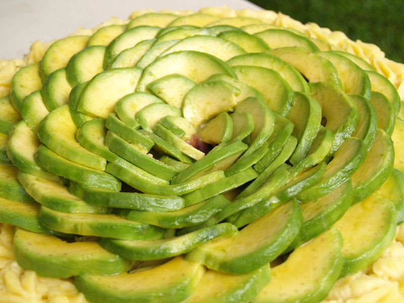 Avo fest - Hector's avo & sweet potato pie - layer