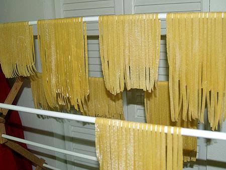 New Year pasta - drying  fresh pasta