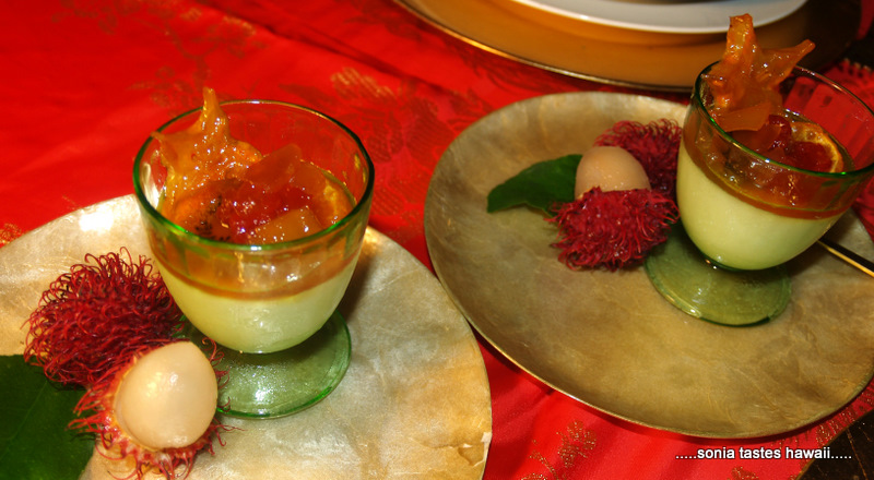 Xmas 10 - Haupia and fruit compote 2