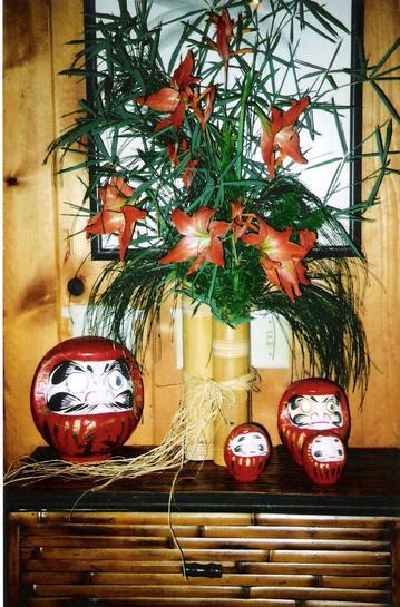 Our New Year's Kadomatsu and collection of Daruma san