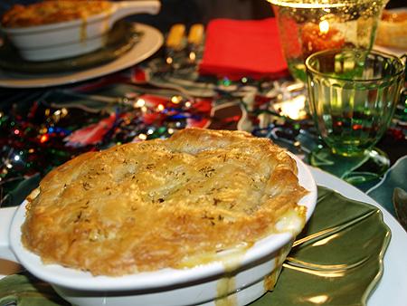 NYE 2010 - chicken pot pie closeup