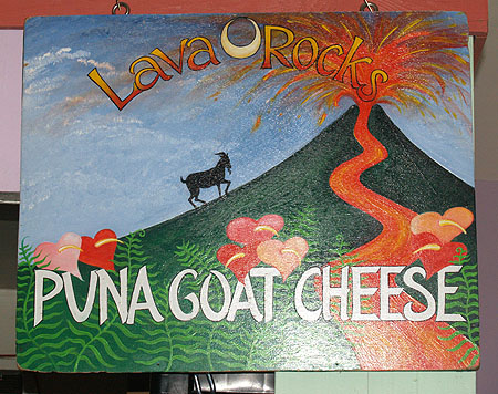 Lava Rock Goat Farm - Sign in the dairy room