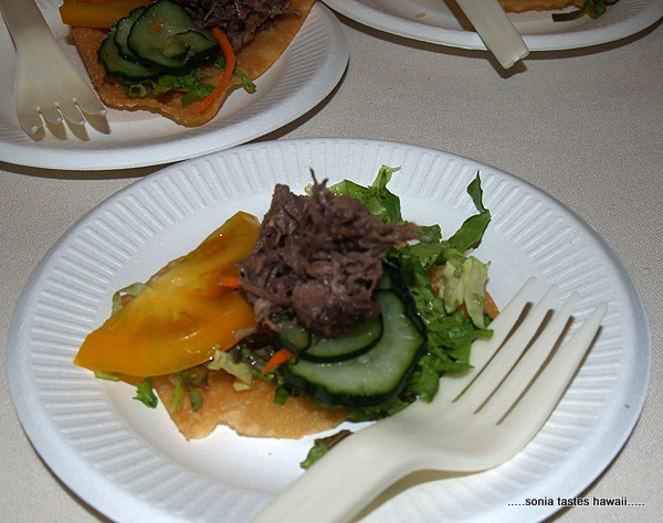 Taste - Edie Akau - Beef Clods on fried wanton