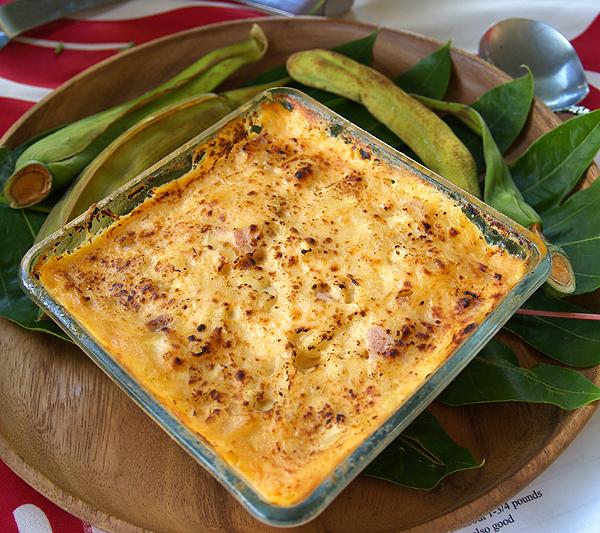 Breadfruit Fest - 'Ulu au Gratin w 3 cheeses and ham