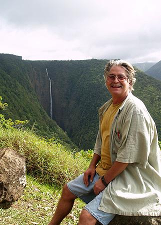 BDay - Waipio Rim Tour 3rd falls - Hi'ilawe Falls - 1400 ft A