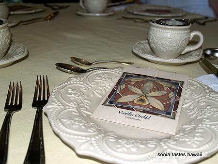 Birthday Tea -  The setting