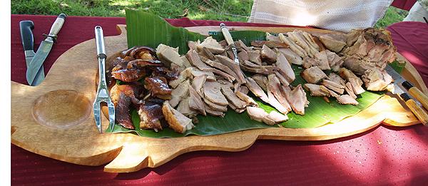 BD Luau - Kalua pork on pig platter