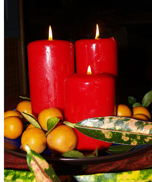 Eve of Christmas Eve - candles 3 sm
