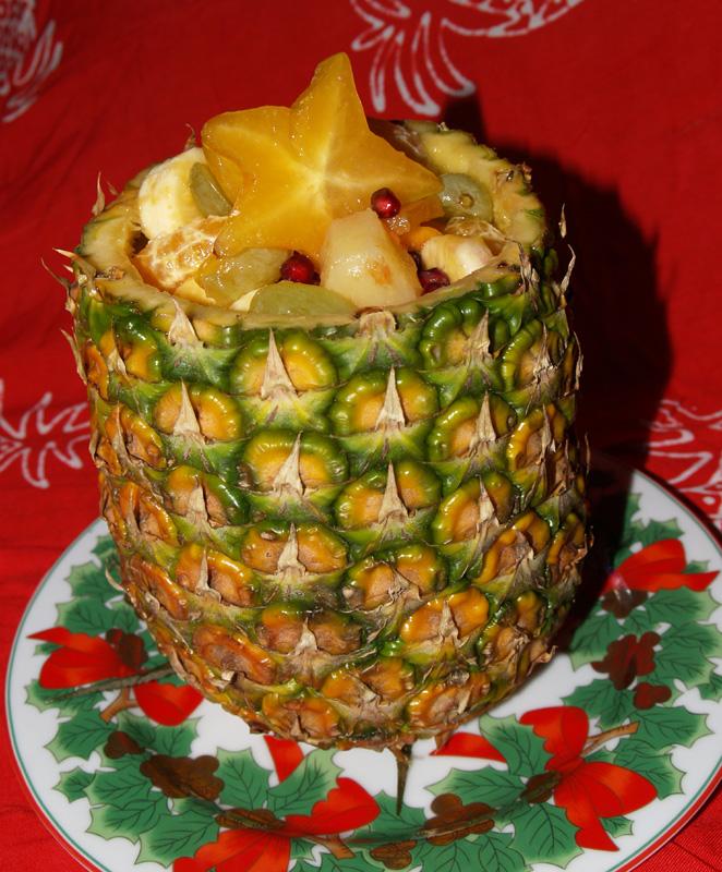 Pineapple Shell Salad - 2 - sm