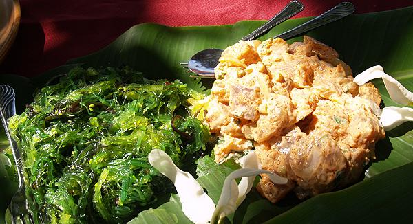 BD Luau - Sea weed salad and ahi poke
