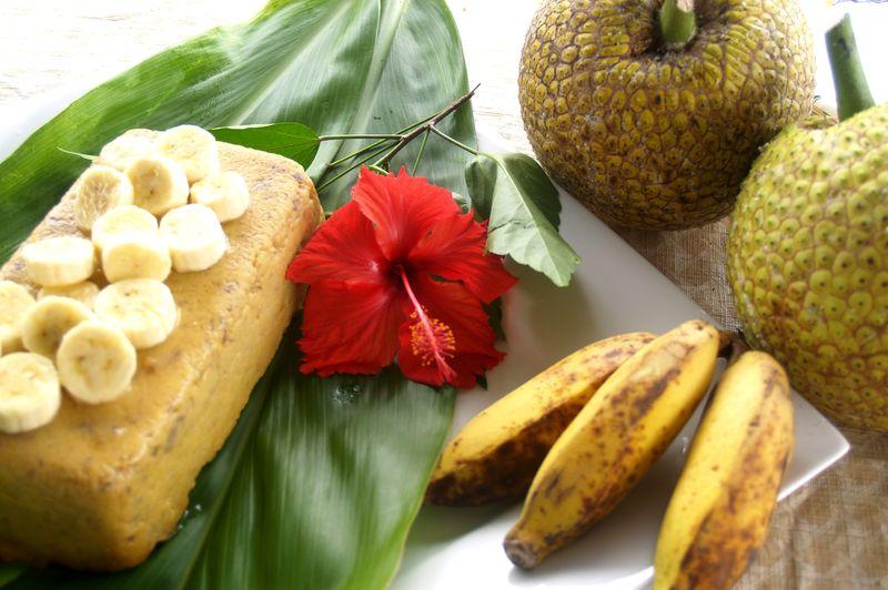 Breadfruit & Banana Custard - the molded custard 2