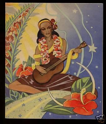Wahine playing ukulele