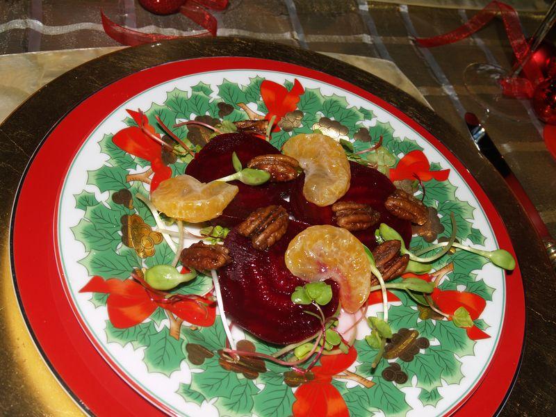 Christmas 2012 - Beet & Tangerine salad