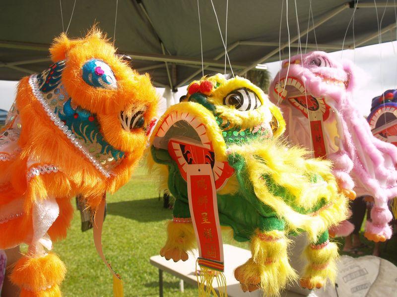 CNY 13 - Dragon puppets