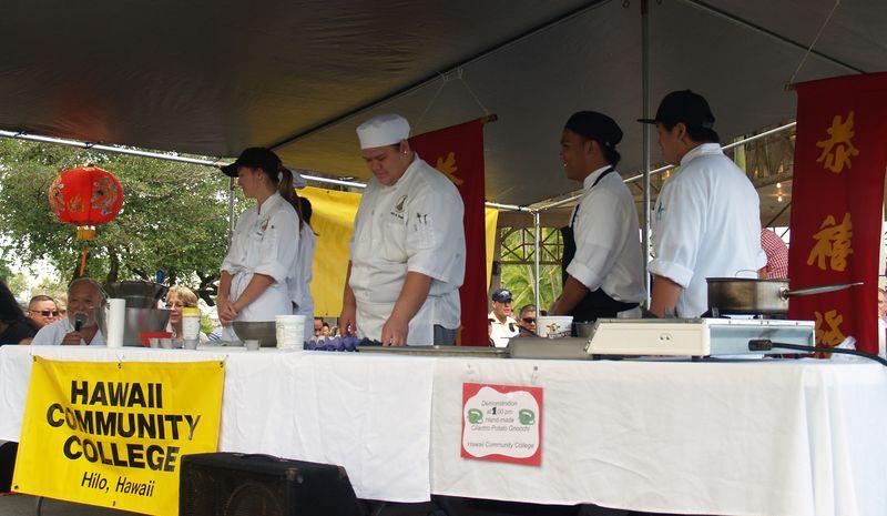 CNY 13 - HCC students demonstrating how to make gnochi