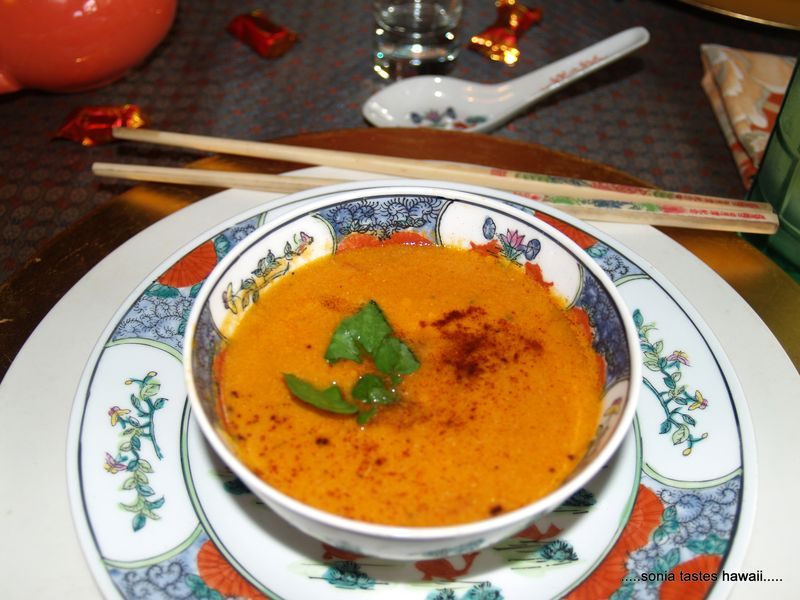 CNY 13 - dinner 1 - crab and tomato bisque