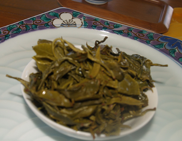 Onomea Tea - Tea leaves after brewing