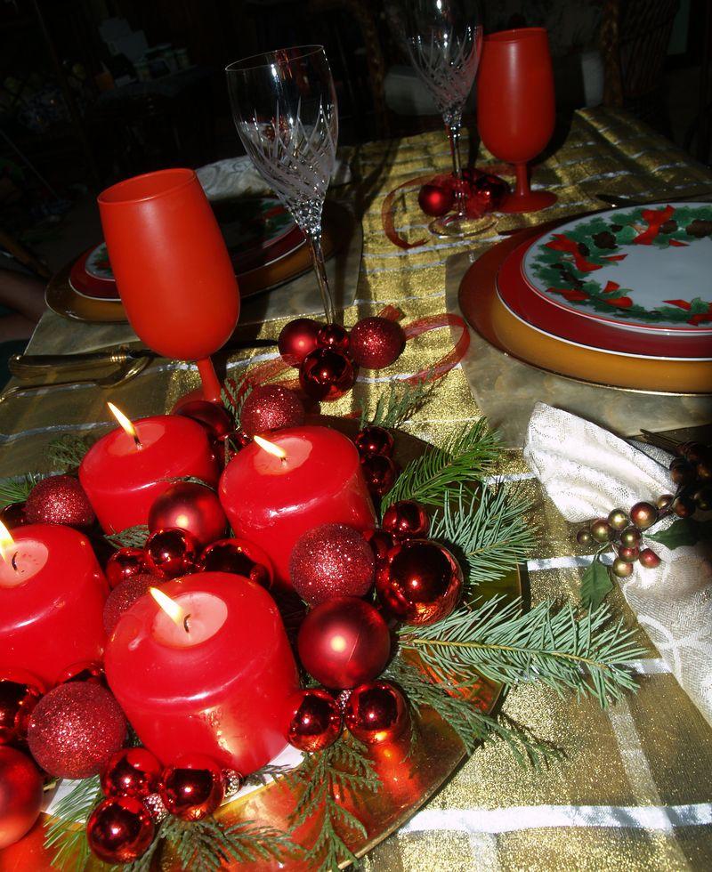 Christmas 2012 - Table setting 2