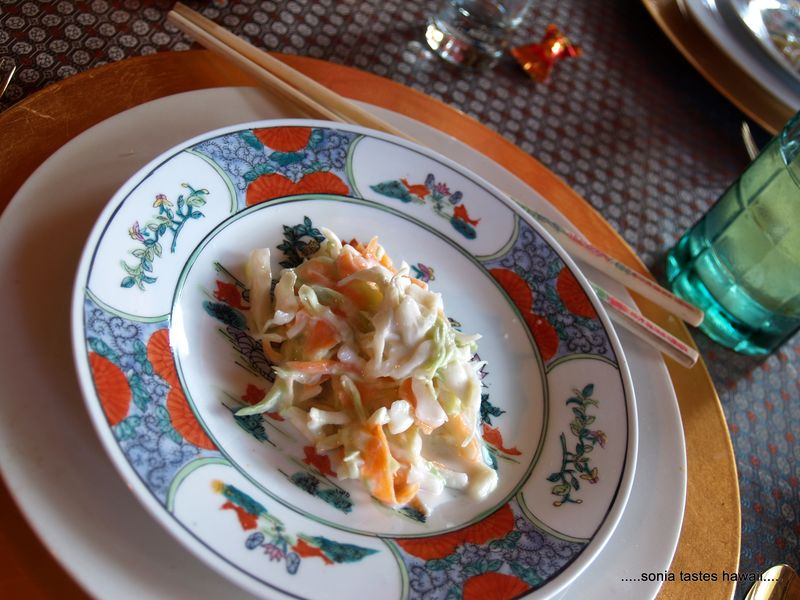 CNY 13 - dinner 2 - cabbage and carrot slaw