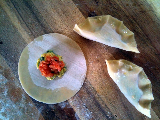 7th Annual Avo Fest - Avocado & Kim Chee Potstickers - Gwen Edwards 2
