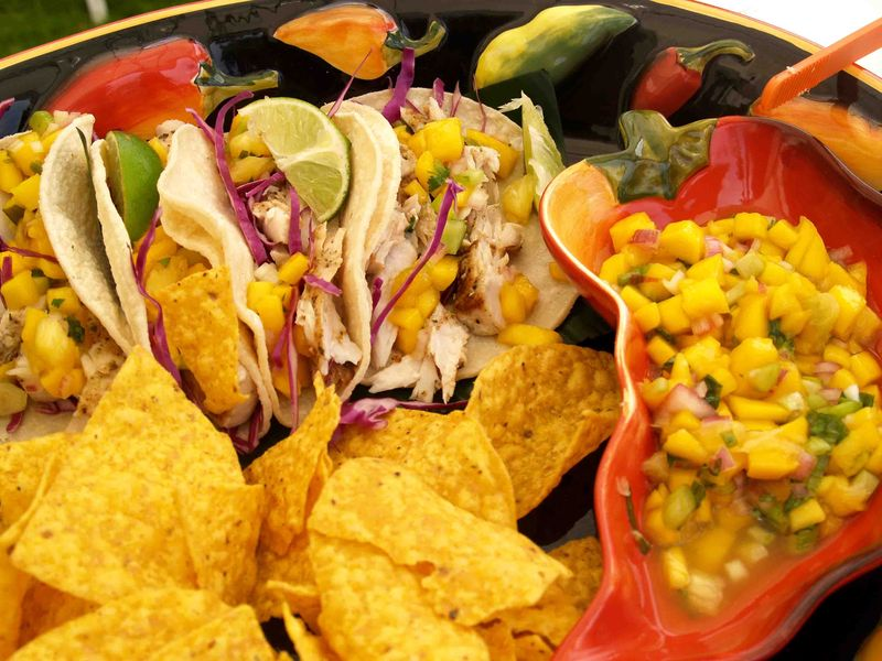 Mango Fest - Entree Mango Salsa -Fish Tacos