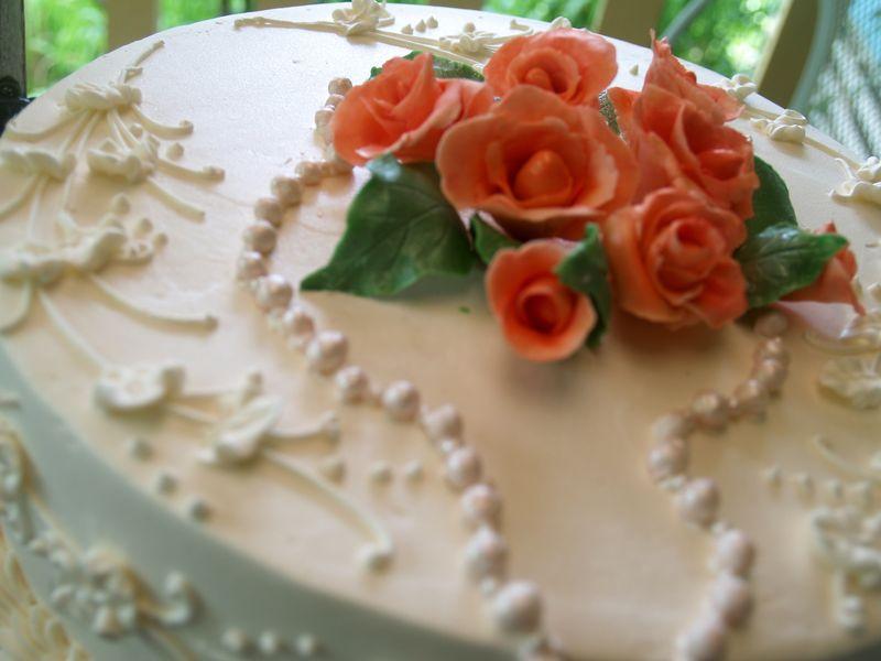 BD - Pearls & Roses BD cake 1