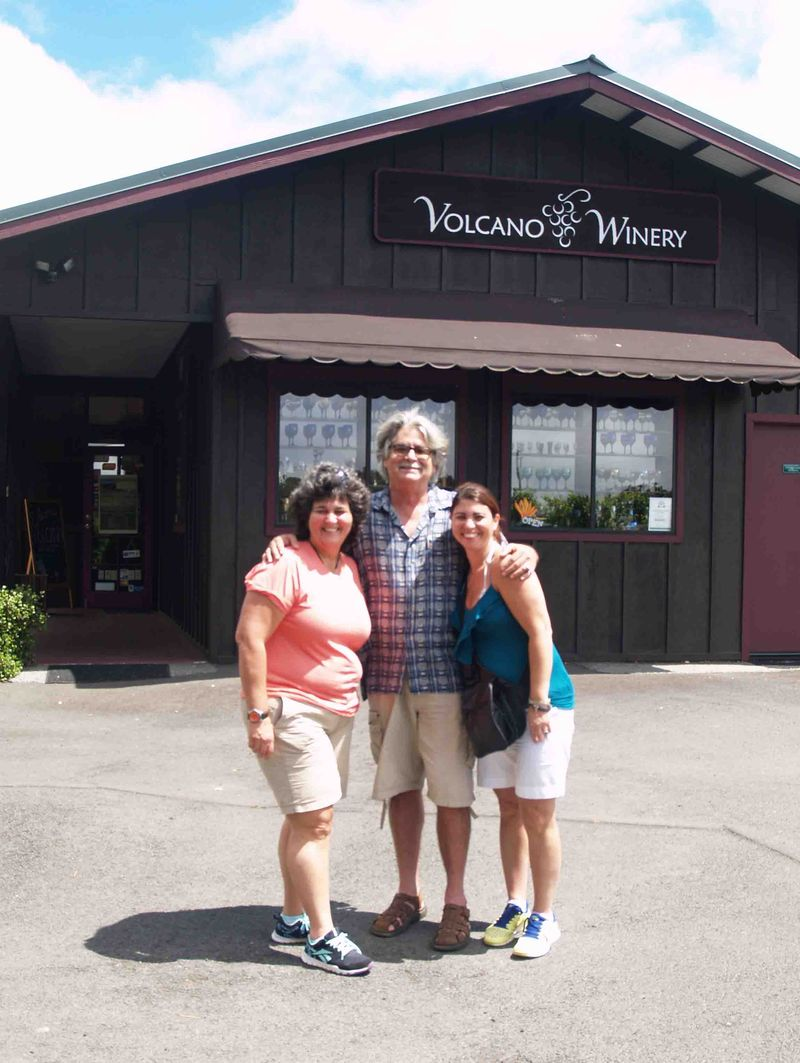 Miami friends - Anabel, Hope & Anthony - Volcano Winery