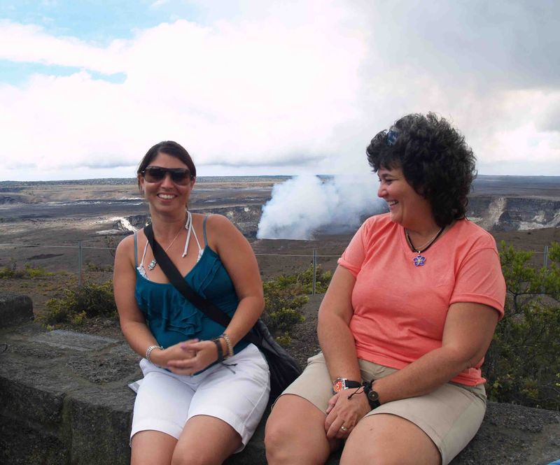 Miami friends - Anabel & Hope - Volcanoes National Park 2
